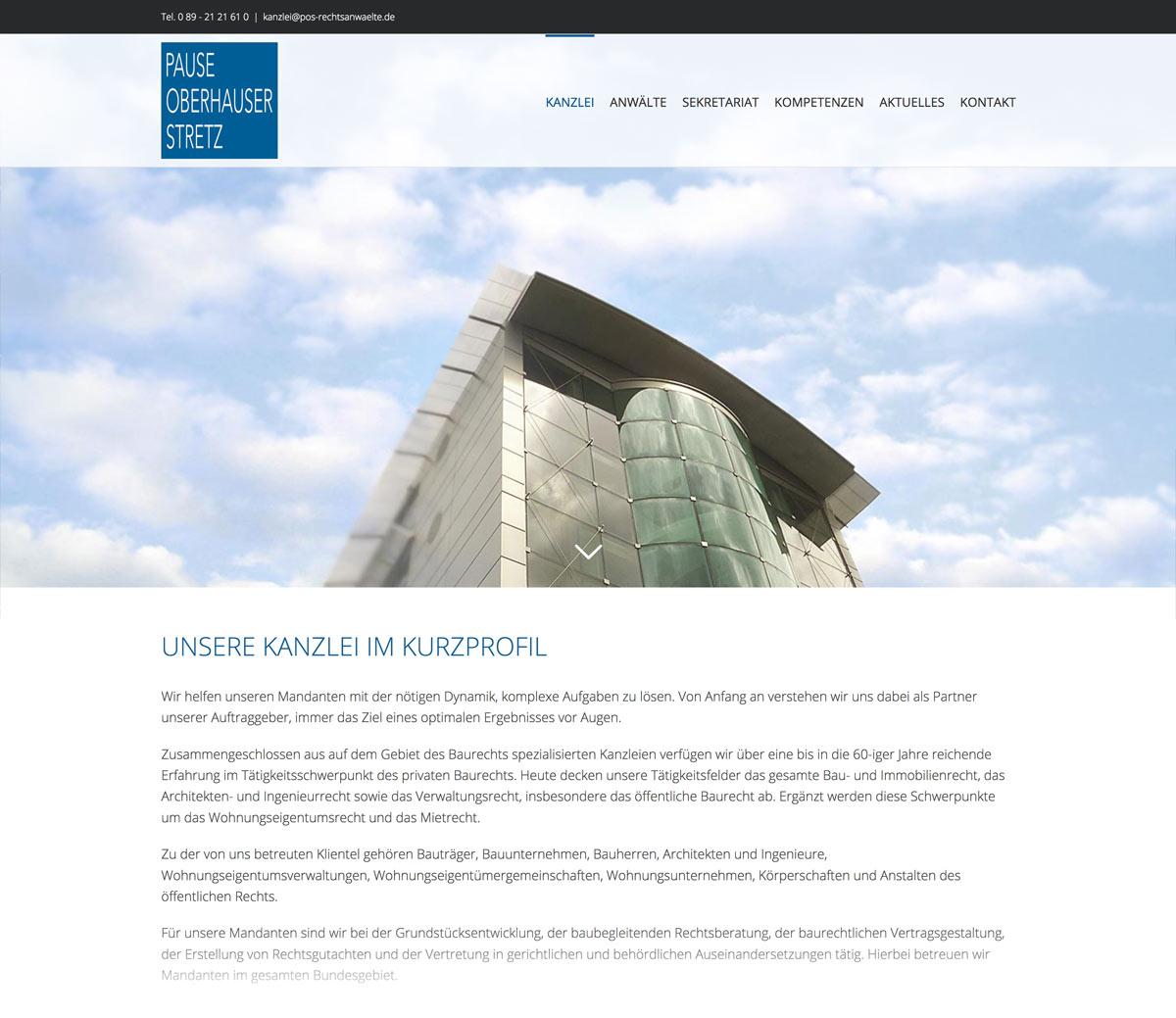 Webseite Rechtsanwaltskanzlei - Webdesign München