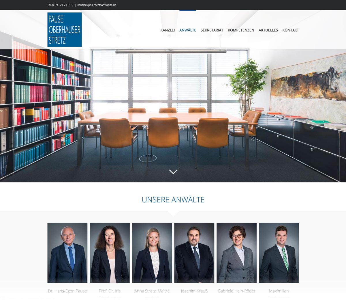 Webseite Rechtsanwalt- Webdesign München