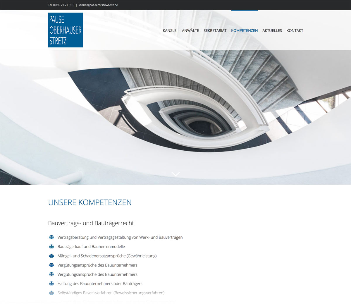 Webseite Anwaelte - Webdesign München