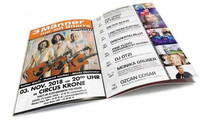 Magazin Programmheft Layout Gestaltung von sehenundmachen Gragikdesign München
