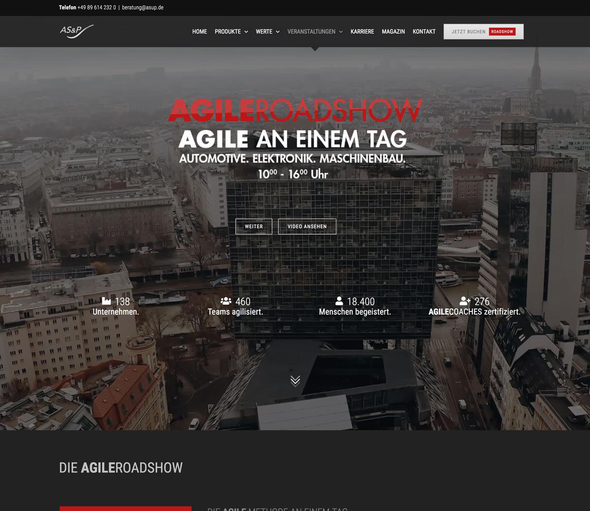 Homepage Gestaltung für Unternehmensberatung Webdesign