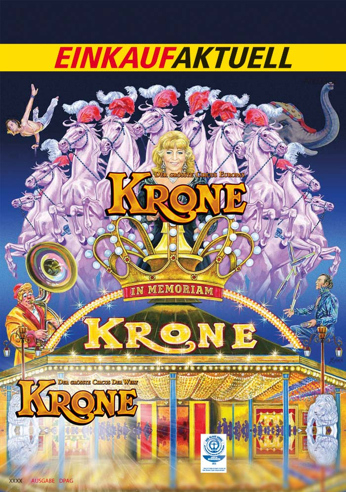 Circus Krone München - Motiv Gestaltung für Programme