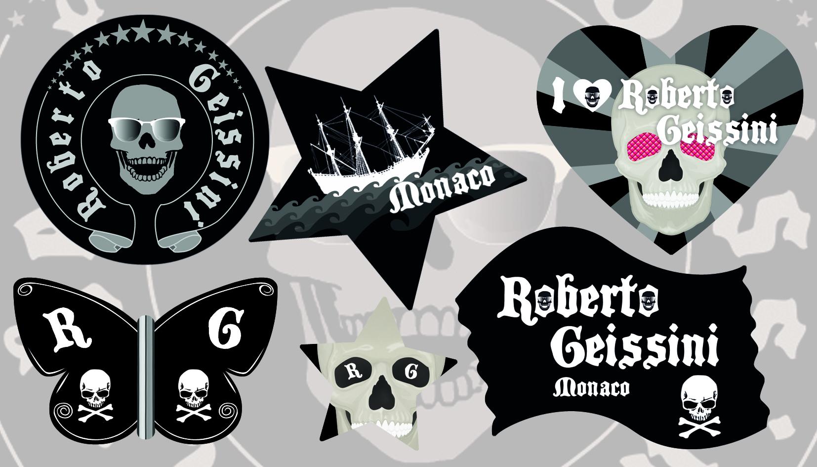 Grafikdesign für Aufkleber Bogen Modemarke