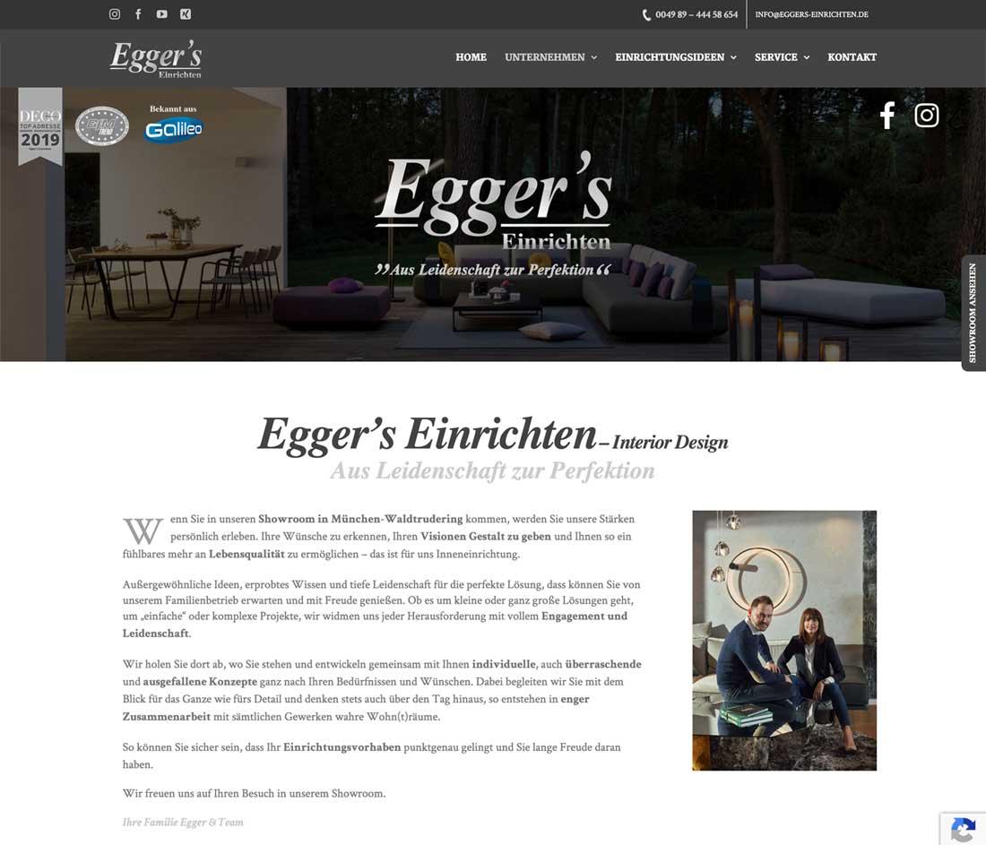 Internetseite für Inneneinrichter und Raumgestalter in München