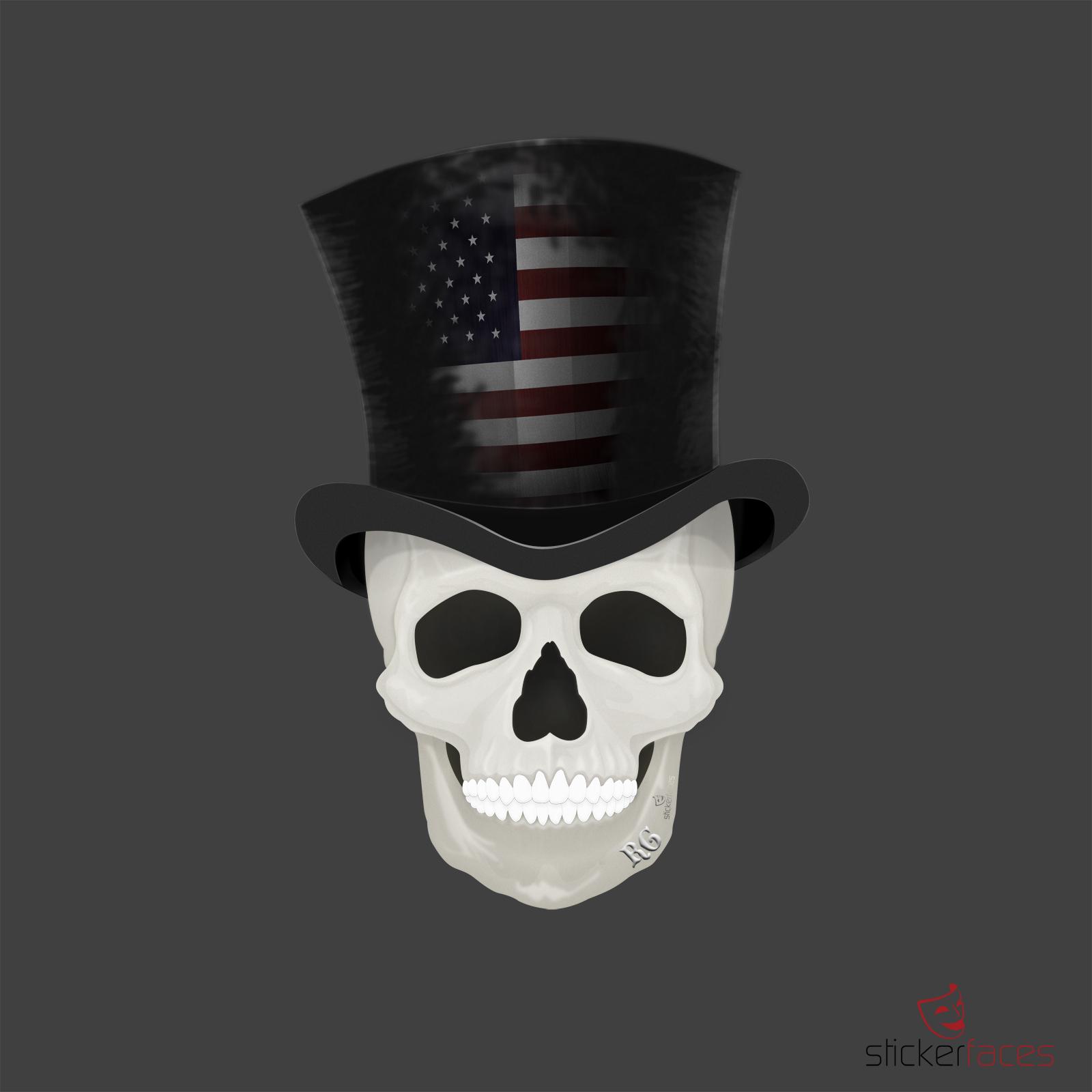 Grafik Skull Player USA by sehenundmachen ©